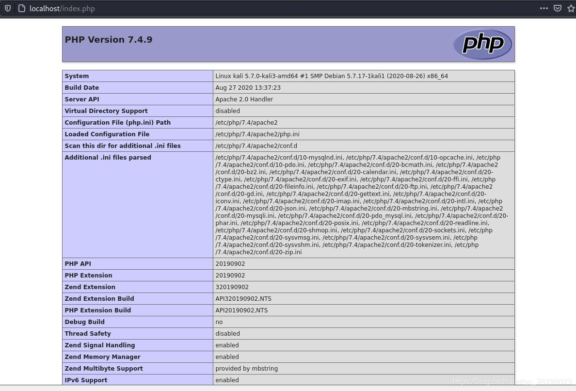 Connection Between Php 7 4 And Mysql Mariadb Under Ubuntu Kali Linux Programmerah